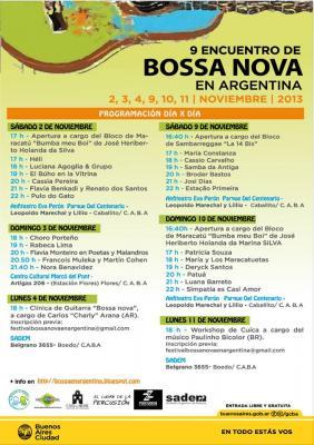 Noviembre comenzó con el 9no Encuentro Bossa Nova en Arg.