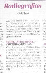 Os Bastidores recomendado en La Nación por Alicia Petti